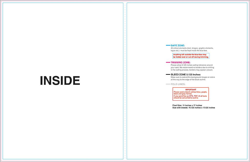 half fold card template word